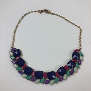 J. Crew statement necklace jewel tone bling